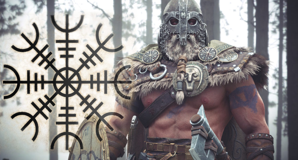 скандинавский шлем ужаса